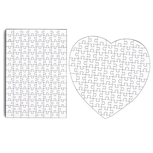 Set Of 4 Diy White Blank Puzzle 11.5