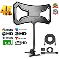 OneSupply 150Miles Outdoor HDTV Antenna - Upgraded TV Antenna Long Range Omni-Directional Digital TV Antenna with Pole Mount for 4K/1080p/FM/VHF/UHF Free Channels High Definition RG6 Copper 32ft cable