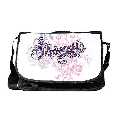 Truly Teague Laptop Notebook Messenger Bag Purple Princess Floral