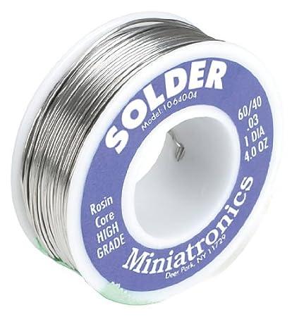 Miniatronics Corp 1064004 Rosin Core Solder 60/40 4oz