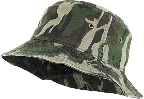 H-219-84 Packable Outdoor Hiking Camping Fishing Boonie Cap Bucket Hat - Camo