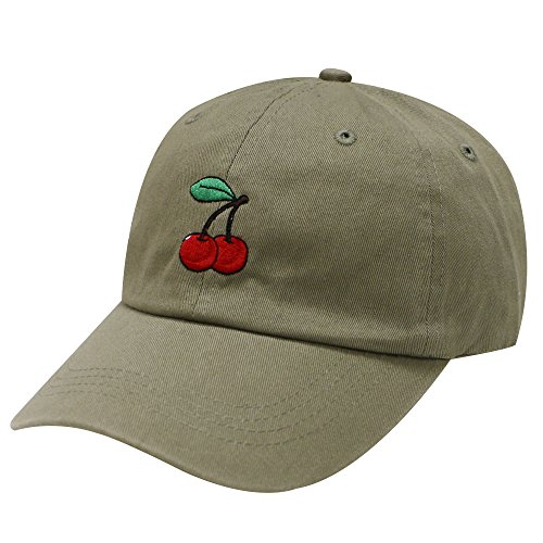 C104 Cherry Cotton Baseball Cap 15 Colors (Olive)