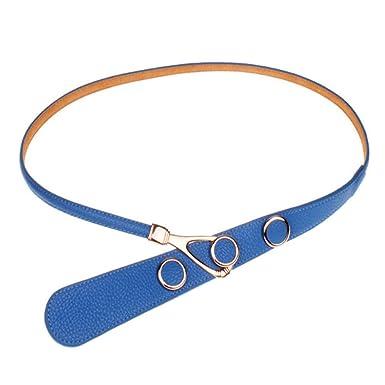 YXLMZ Cinturón De Moda De Mujer Con Falda De Cuero Azul 79-89cm ...