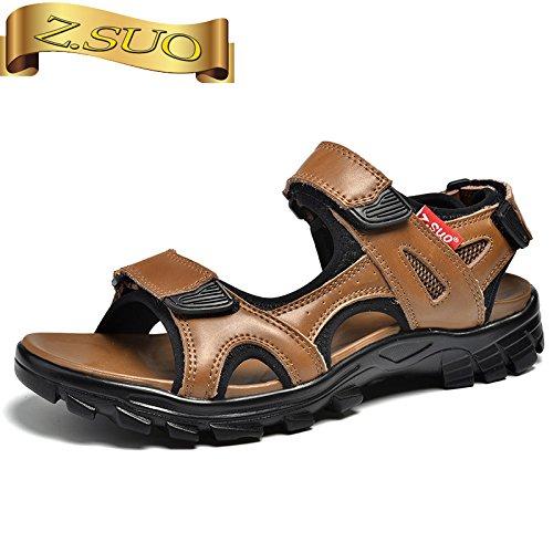 Xing Lin Sandalias De Hombre La Caída De Los Hombres Sandalias Nuevo Calzado Casual Open Toe Calzado De Playa Clip Dedos Sandalias De Juventud Yellow-brown