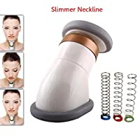 Neckline Slimmer Face Chin Lift, Facial Flex Face Neck Massager Jawline Exerciser Shaper for Double Chin Remover, Neck Pain Genie Neck Line Exercise Equipment with Bag