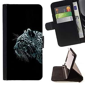 Momo Phone Case / Flip Funda de Cuero Case Cover - Leopardo de nieve;;;;;;;; - HTC One A9