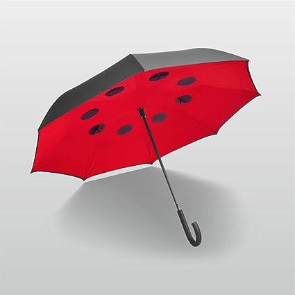 Paraguas de coche puede levantarse paraguas reverso Creative doble capa de mango largo paraguas hombres y