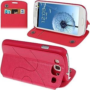 Fundas y estuches para teléfonos móviles, Dibujo de estampado del cuero del tirón con ranura para tarjeta de crédito / soporte / ventosa para el Samsung Galaxy S III / i9300 9