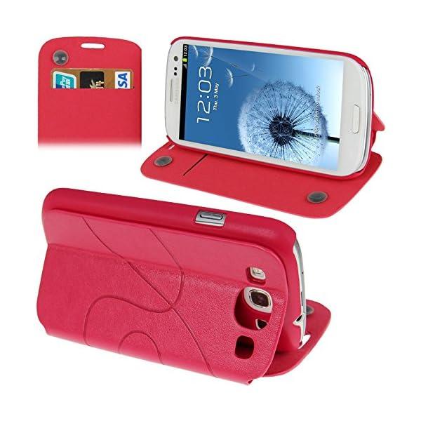 Fundas y estuches para teléfonos móviles, Dibujo de estampado del cuero del tirón con ranura para tarjeta de crédito / soporte / ventosa para el Samsung Galaxy S III / i9300 1
