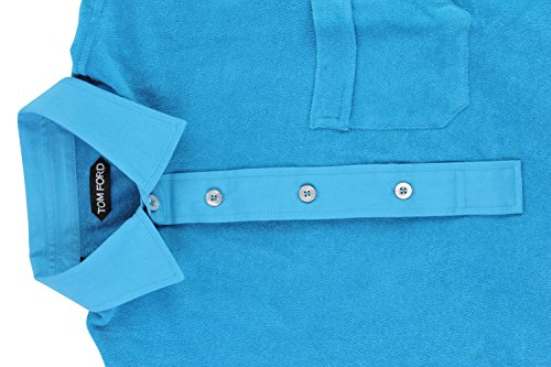Tom Ford Polo Poloshirt Herren Türkis Regular Fit Baumwolle Casual 48