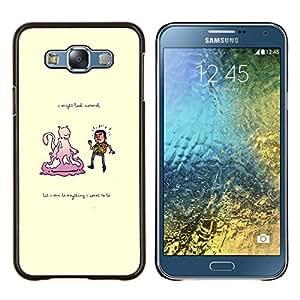 EJOOY---Cubierta de la caja de protección para la piel dura ** Samsung Galaxy E7 E700 ** --Humo no temer