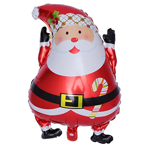 NUOLUX Christmas Party Decoration Santa Claus Pattern Snowman Balloon Aluminum Foil Balloon