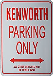 KENWORTH PARKING ONLY - Miniature Parking Signs Ideal for the motoring enthusiast