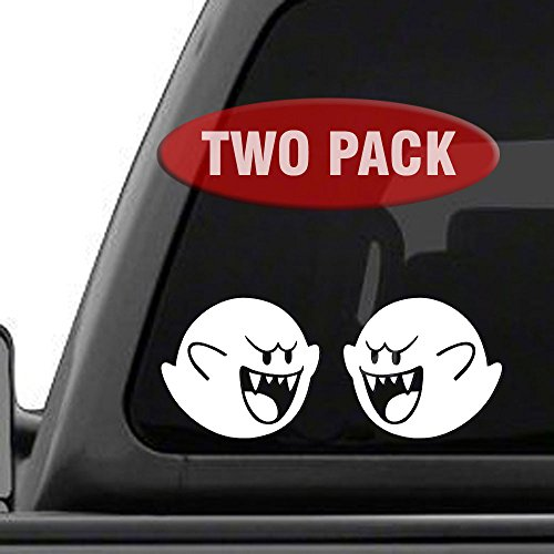 - Signage Cafe Boo Super Mario Brothers - Two Pack - Vinyl Decals for car, Truck, JDM, Laptop