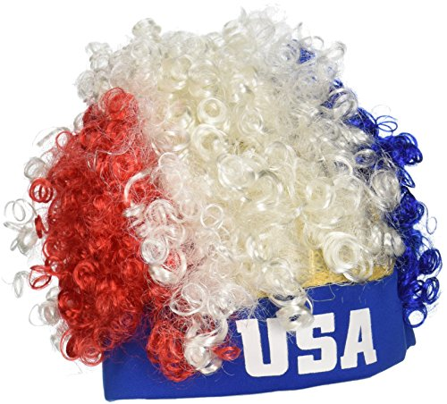 Beistle 60275 USA Wig - Red White And Blue Wig