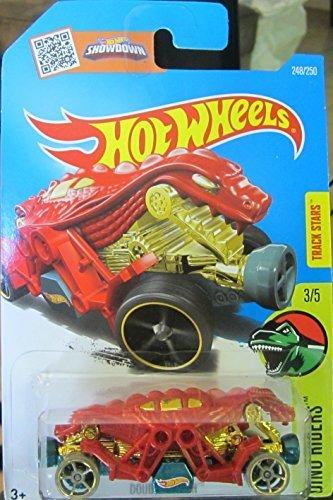 Hot Wheels 2016 Dino Riders Double Demon 248/250, Red (Hot Wheels Speed Demons)