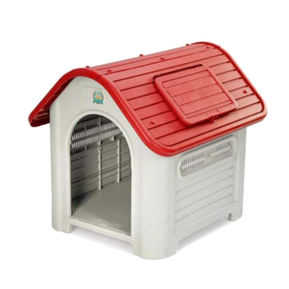 Red Pet Supplies Washable Kennel Medium and Large Dogs Cage Outdoor Dog House (color   RED)
