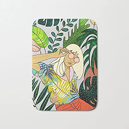Amazon Com Afagahah Decoration Spring Break Banana Leaf Watercolor