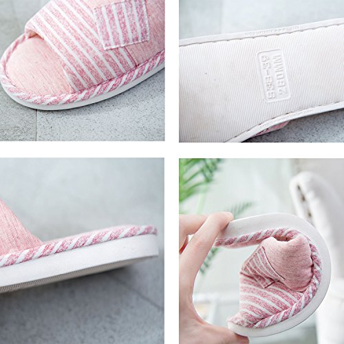 Beige Women Indoor Home Comfort Flip Flops d Bedroom and xsby Slippers House Men Soft Hq7ZZE