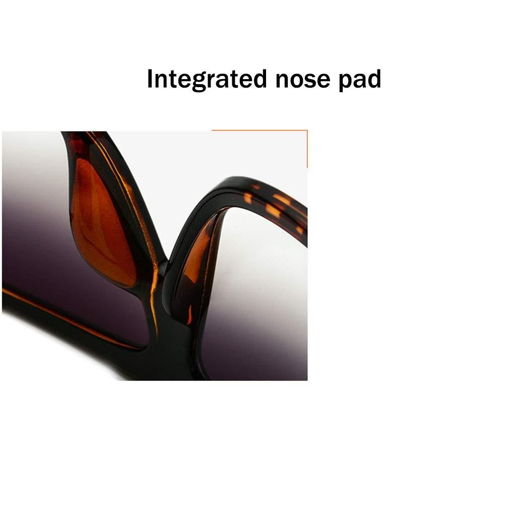 ZHAO ZHANQIANG Moda Uomo e Donna Occhiali da Sole Oversize Super Piatto Occhiali da Sole Quadrati Grandi Occhiali da Sole Cat Eye