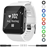 Meifox Compatible with Garmin Forerunner 35 Band,Solf Silicone Replacement Bands for Garmin Forerunner 35 Watch (White)