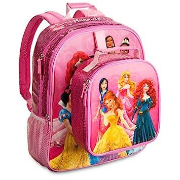 Disney Store Mochila Escolar con Bolsa Princesas Rapunzel Aurora Bella: Amazon.es: Juguetes y juegos