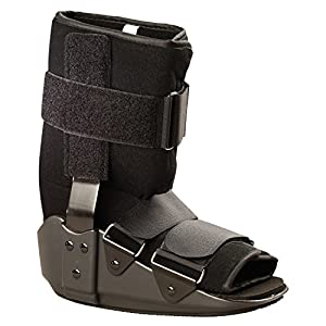 OTC Short Leg Cast Low Top Walker Boot, Black, Large/Short