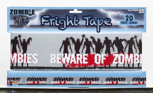 Forum Novelties 66626 Zombie Warning Tape, Black/Blue]()