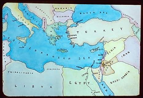 Cartina Paesi Mediterraneo.Photo Modelli Mappe Mappa Di Mediterraneo Orientale Paesi Adiacenti Amazon It Casa E Cucina