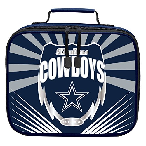 The Northwest Company Officially Licensed NFL Dallas Cowboys Lightning Kids Lunch Kit, Blue