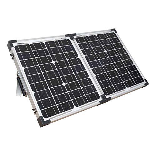 Lowenergie Kit de panel solar plegable portátil mono, cargador de batería de 12 V para camping caravanas (40 W)