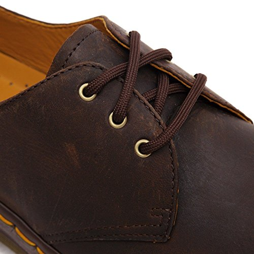 Dr. Martens 1461 Crazy Horse, Zapatos de Cordones Oxford para Hombre Marrón (Dark Brown)