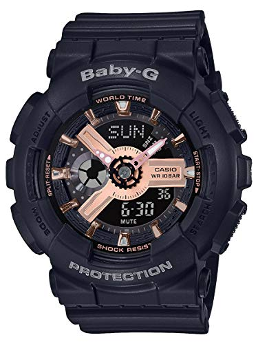 G-Shock BA110RG Baby-G Rose Gold Black