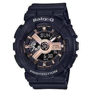 51MvMQcKh8L. SS300  - Casio BA110RG-1A Baby-G Women's Watch Black 43.4mm Resin