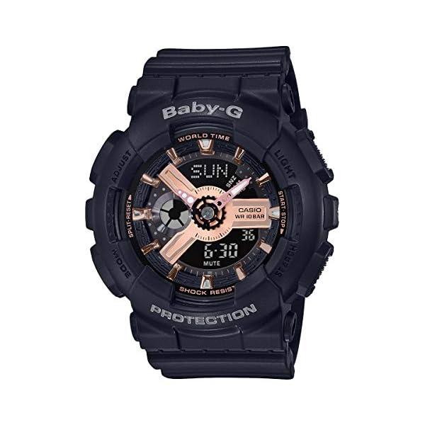 51MvMQcKh8L. SS600  - Casio BA110RG-1A Baby-G Women's Watch Black 43.4mm Resin