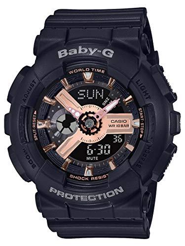 Casio BA110RG-1A Baby-G Women's Watch Black 43.4mm Resin