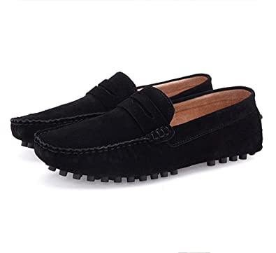 Doris Men's Suede Slip-on Loafers Casual Flats Driving Shoes