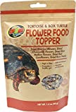 Zoo Med Tortoise and Box Turtle Flower Food Topper, 1.4 Ounce, Assorted