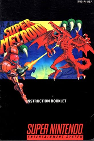 super metroid snes instruction booklet super nintendo manual only rh amazon com super metroid mod manual super metroid mod manual