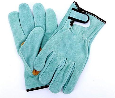 AMAZACER 溶接&BBQ手袋、プレミアムグレードA牛革、ヘビーデューティハンドシールド、極端な暑さ&耐熱、グリル、暖炉、仕事、庭、オーブン&バーベキュー料理ベーキング喫煙手袋を着用し、2Pair (Size : 5pair)