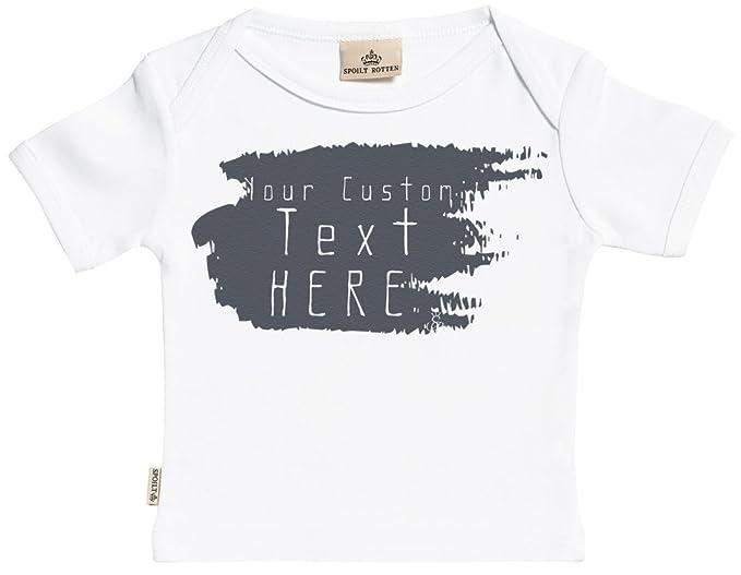 da61b6f9f Personalizados bebé Your Custom Text Here camisetas personalizados para  bebé niño - camisetas personalizados para bebé niña - conjunto Regalo del  bebé  ...