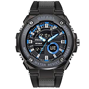 Blisfille Relojes Deportivos Reloj 50 Cm Reloj de Actividad Reloj de Vestir para Hombre Reloj Hombre