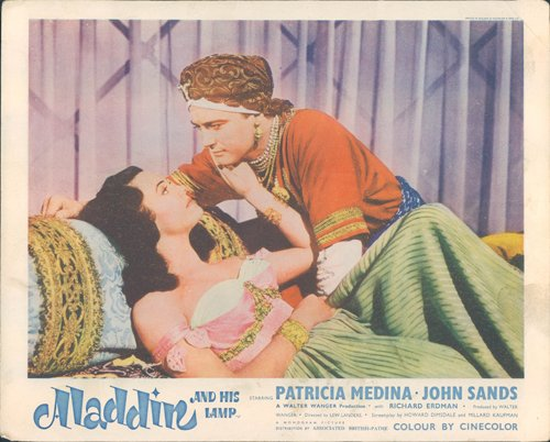Lamp Medina - ALADDIN AND HIS LAMP PATRICIA MEDINA JOHN SANDS ORIGINAL LOBBY CARD