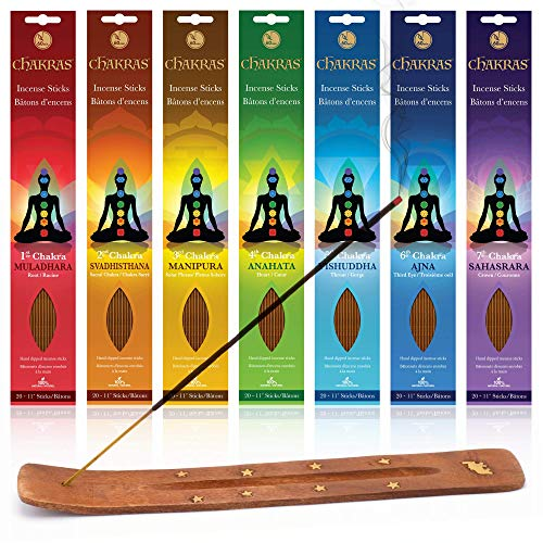Chakras 100% Natural 60-minute Incense Sticks (Collection of 140 sticks)