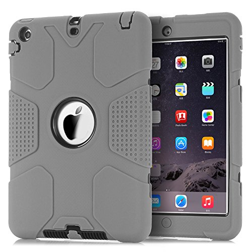 iPad Mini Case, iPad Mini 2 Case,iPad Mini 3 Case,TOPSKY [Robot Series] High Impact Defender Shockproof Case For iPad Mini/ iPad Mini 2/ iPad Mini 3, Grey/Black (Robot Ipad Mini Case compare prices)
