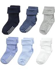 Jefferies Socks Baby Boys' Non-Skid Turn Cuff Socks 6 Pair Pack