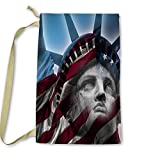 Pixsona America, Statue of Liberty Laundry Bag