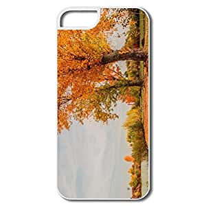 IPhone 5 5S Hard Plastic Cases, Autumn White Protector For IPhone 5 5S