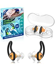 2 Pairs Swimmer Ear Plugs, Hearprotek Upgraded Custom-fit Water Protection Adult Swimming earplugs for Swimmers Water Pool Shower Bathing and Other Water Sports