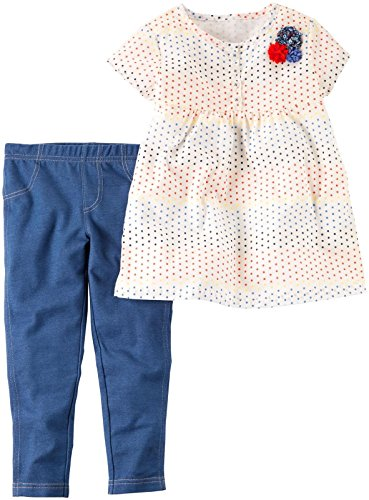 Carter's Baby Girls' 2 Pc Playwear Sets 239g340, Dot Top, 18M